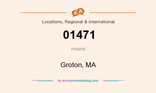 What does 01471 mean? It stands for Groton, MA