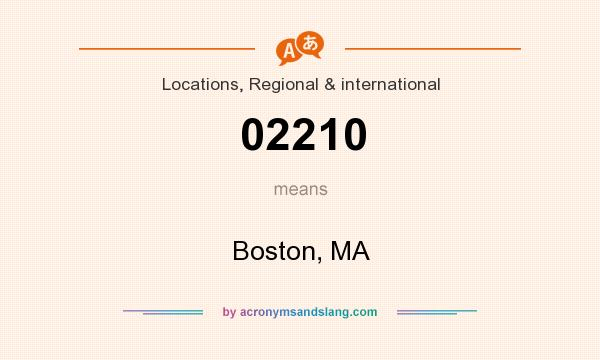 What does 02210 mean? It stands for Boston, MA
