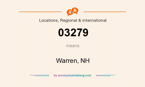 What does 03279 mean? It stands for Warren, NH