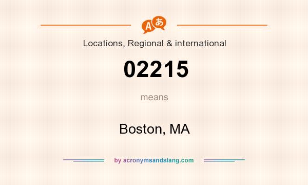 What does 02215 mean? It stands for Boston, MA