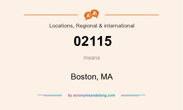 What does 02115 mean? It stands for Boston, MA