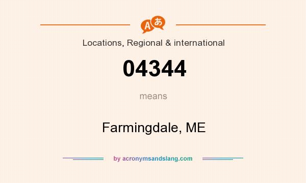 What does 04344 mean? It stands for Farmingdale, ME