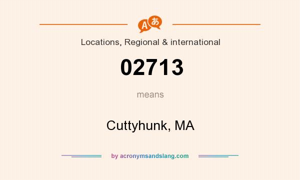 What does 02713 mean? It stands for Cuttyhunk, MA