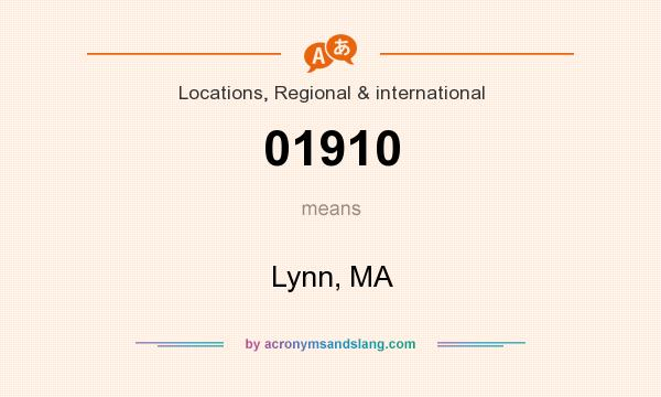What does 01910 mean? It stands for Lynn, MA