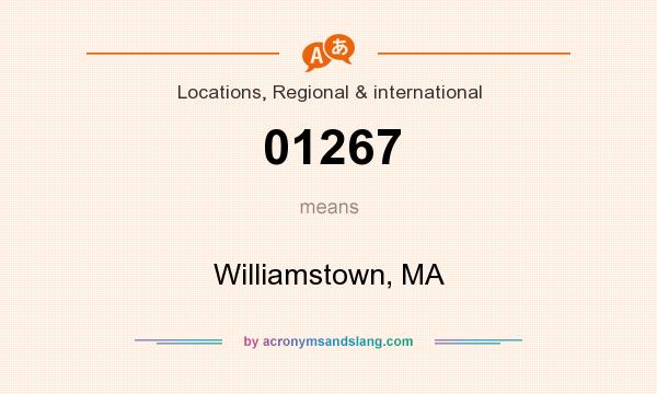 What does 01267 mean? It stands for Williamstown, MA