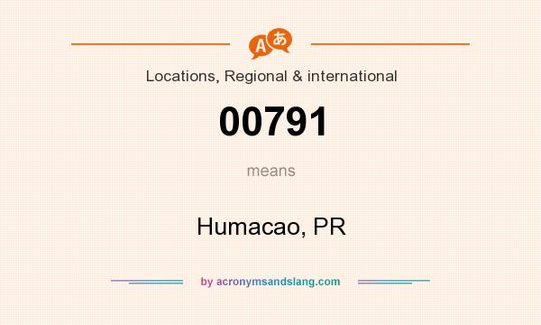 What does 00791 mean? It stands for Humacao, PR