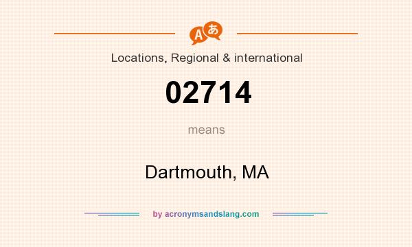 What does 02714 mean? It stands for Dartmouth, MA