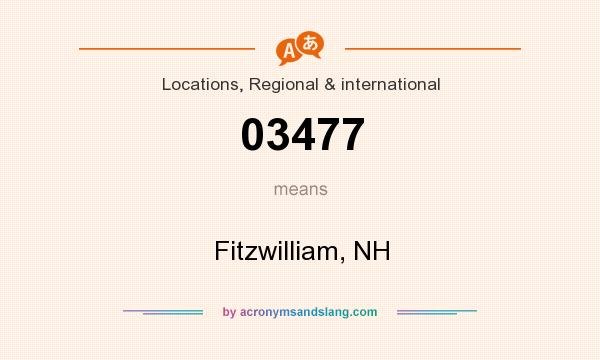 What does 03477 mean? It stands for Fitzwilliam, NH