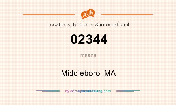 What does 02344 mean? It stands for Middleboro, MA