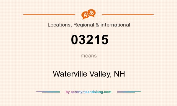 What does 03215 mean? It stands for Waterville Valley, NH