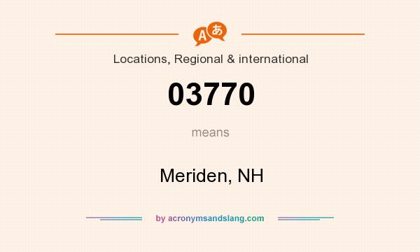 What does 03770 mean? It stands for Meriden, NH