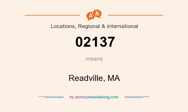 What does 02137 mean? It stands for Readville, MA