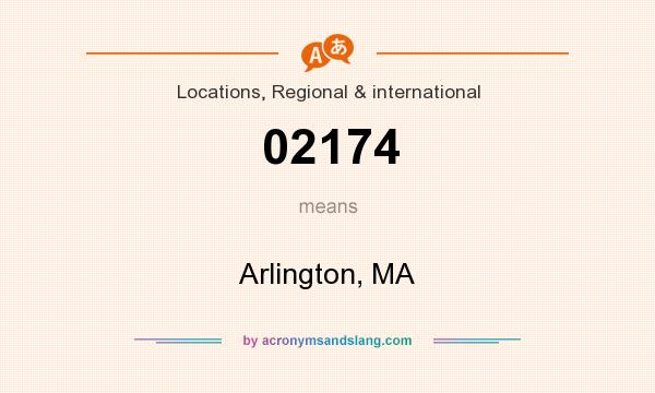 What does 02174 mean? It stands for Arlington, MA