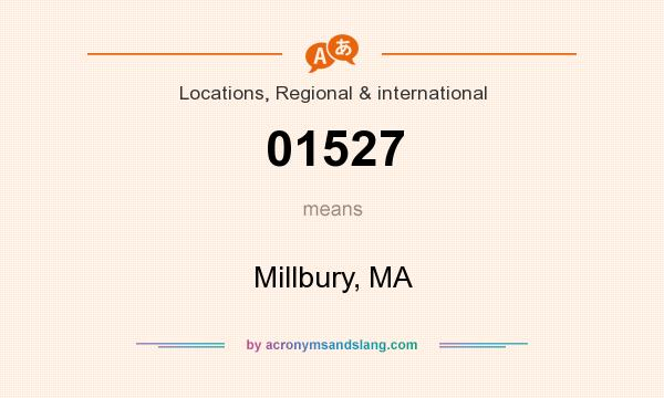 What does 01527 mean? It stands for Millbury, MA