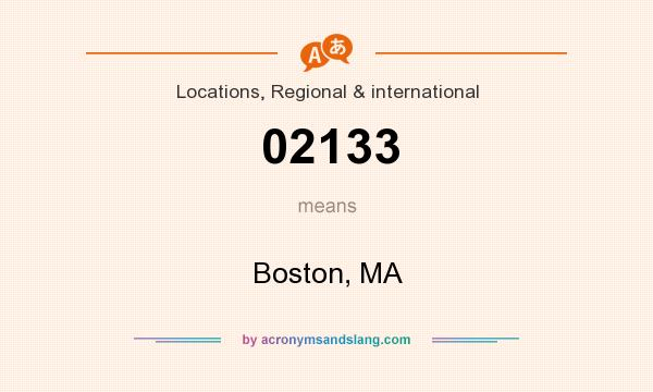 What does 02133 mean? It stands for Boston, MA