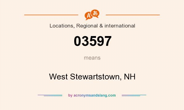What does 03597 mean? It stands for West Stewartstown, NH