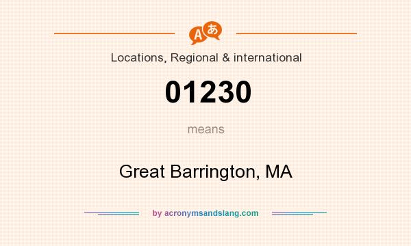 What does 01230 mean? It stands for Great Barrington, MA