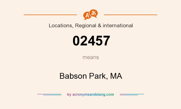 What does 02457 mean? It stands for Babson Park, MA