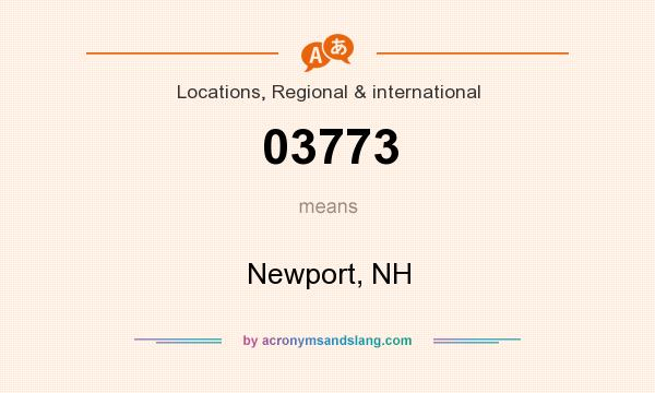 What does 03773 mean? It stands for Newport, NH