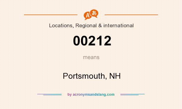 What does 00212 mean? It stands for Portsmouth, NH