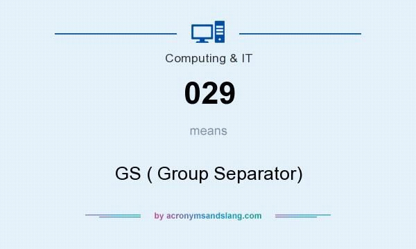 What does 029 mean? It stands for GS ( Group Separator)