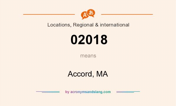 What does 02018 mean? It stands for Accord, MA