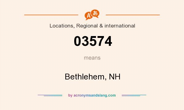 What does 03574 mean? It stands for Bethlehem, NH