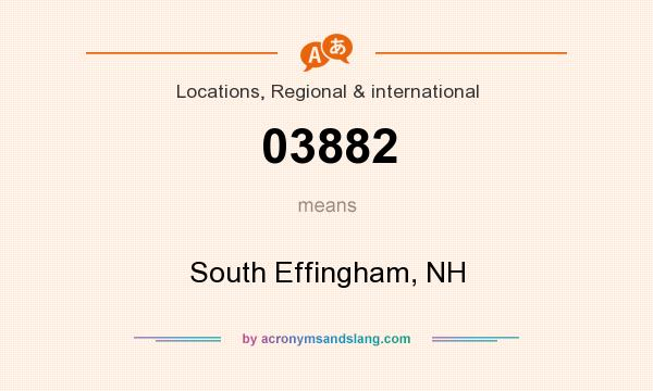 What does 03882 mean? It stands for South Effingham, NH