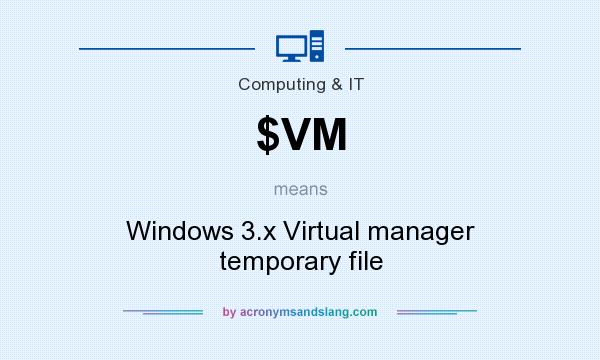 What does $VM mean? It stands for Windows 3.x Virtual manager temporary file