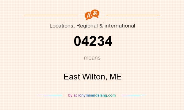 What does 04234 mean? It stands for East Wilton, ME
