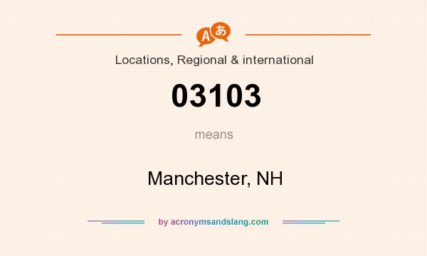 What does 03103 mean? It stands for Manchester, NH
