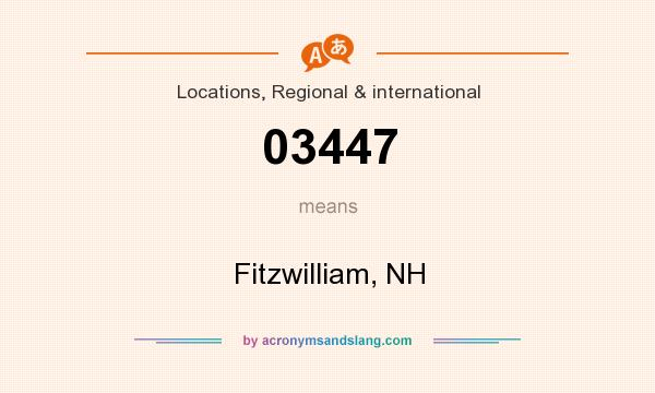 What does 03447 mean? It stands for Fitzwilliam, NH