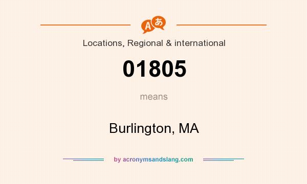 What does 01805 mean? It stands for Burlington, MA