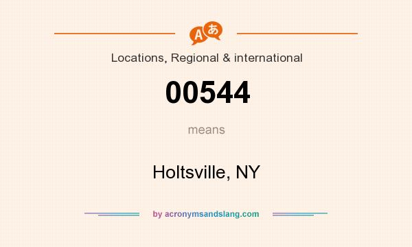 What does 00544 mean? It stands for Holtsville, NY