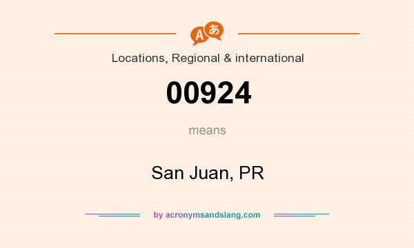 What does 00924 mean? It stands for San Juan, PR