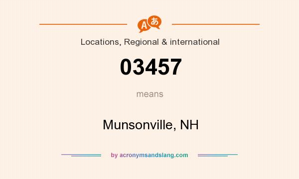 What does 03457 mean? It stands for Munsonville, NH