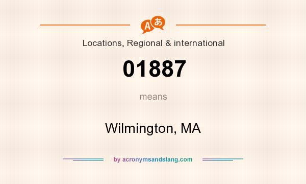 What does 01887 mean? It stands for Wilmington, MA