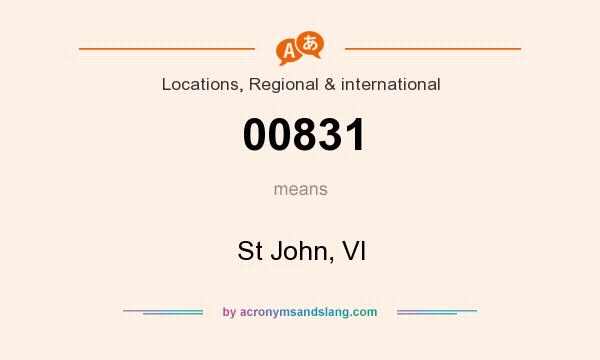What does 00831 mean? It stands for St John, VI