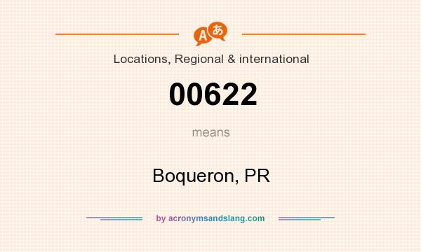 What does 00622 mean? It stands for Boqueron, PR