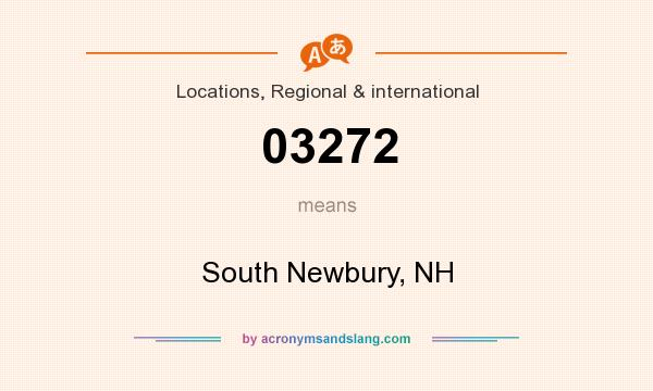 What does 03272 mean? It stands for South Newbury, NH