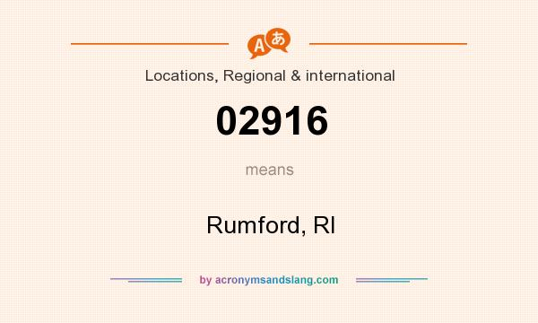 What does 02916 mean? It stands for Rumford, RI