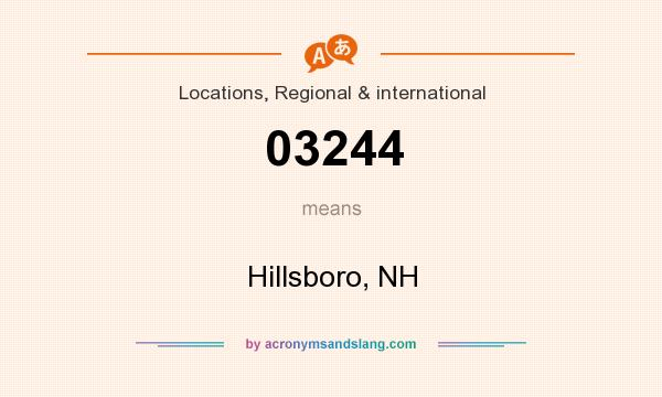 What does 03244 mean? It stands for Hillsboro, NH