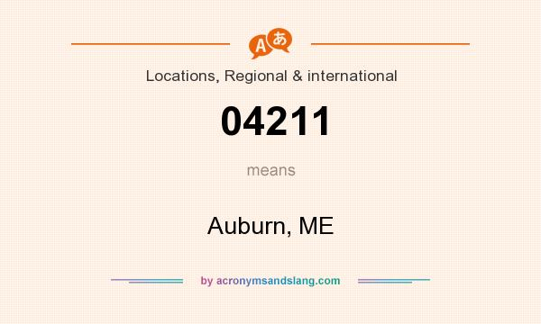 What does 04211 mean? It stands for Auburn, ME