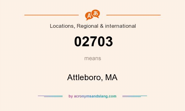 What does 02703 mean? It stands for Attleboro, MA