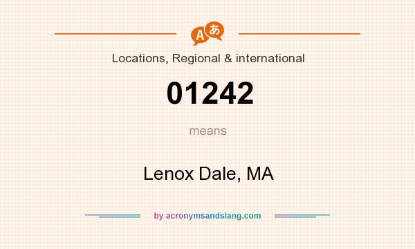 What does 01242 mean? It stands for Lenox Dale, MA