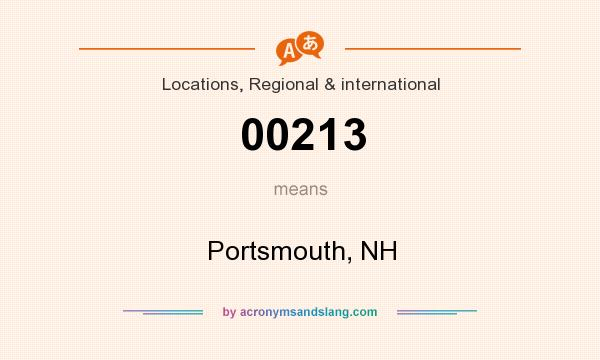 What does 00213 mean? It stands for Portsmouth, NH