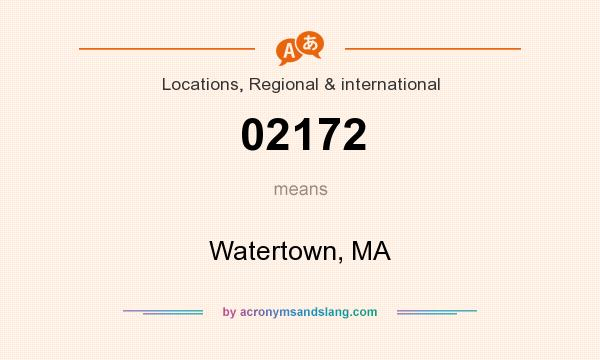 What does 02172 mean? It stands for Watertown, MA
