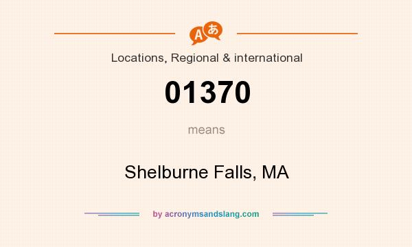 What does 01370 mean? It stands for Shelburne Falls, MA