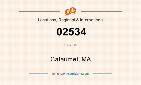 What does 02534 mean? It stands for Cataumet, MA