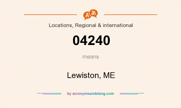 What does 04240 mean? It stands for Lewiston, ME